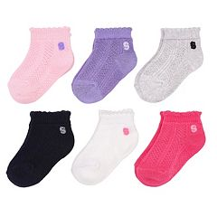 Baby Girl / Toddler Girl Jumping Beans® 6-pk. Scalloped Edge Knit Low-Cut Socks