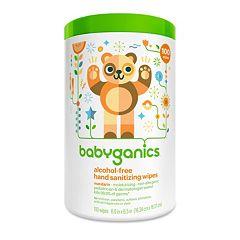 Babyganics 100 pkAlcohol-Free Mandarin Hand Sanitizer Wipes