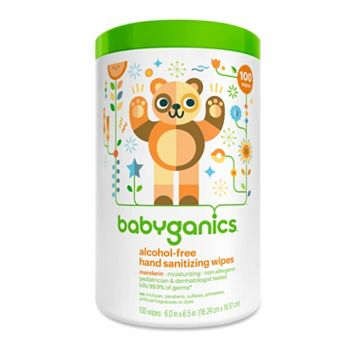 Babyganics 100-pk. Alcohol-Free Mandarin Hand Sanitizer Wipes