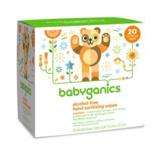Babyganics 20-pk. Alcohol-Free Individual Mandarin Hand Sanitizer Wipes
