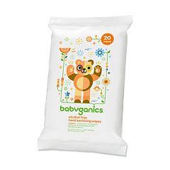 Babyganics 20 pkAlcohol-Free Mandarin Hand Sanitizer Wipes