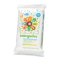 Babyganics 40-pk. Fragrance-Free Face, Hand & Baby Wipes