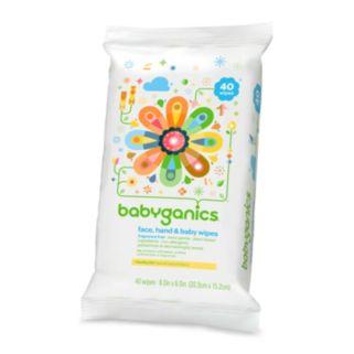 Babyganics 40-pk. Fragrance-Free Face, Hand & Baby Wipes