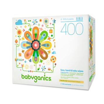 Babyganics 400-pk. Fragrance-Free Face, Hand & Baby Wipes