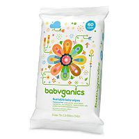 Babyganics On-the-Go 60-pk. Fragrance-Free Flushable Wipes