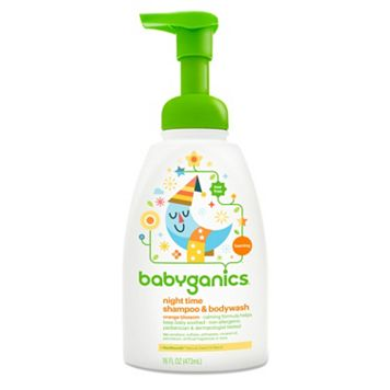 Babyganics Night Time 16-oz. Orange Blossom Shampoo & Body Wash