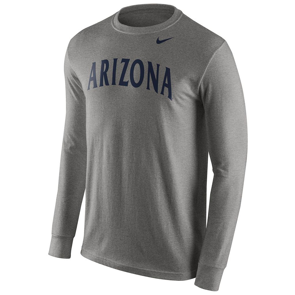 Men's Nike Arizona Wildcats Wordmark Long-Sleeve Tee