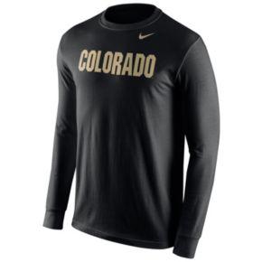 Men's Nike Colorado Buffaloes Wordmark Long-Sleeve Tee