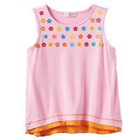 Design 365 Floral Sequin Mock-Layer Top - Toddler Girl