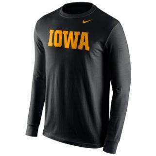 Men's Nike Iowa Hawkeyes Wordmark Tee