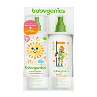 Babyganics Deet-Free Insect Repellent & SPF 50 Screenscreen Spray Set