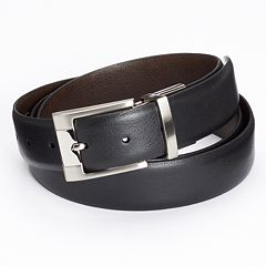 Big & Tall Apt. 9® Reversible Milled Grain Feather-Edge Belt