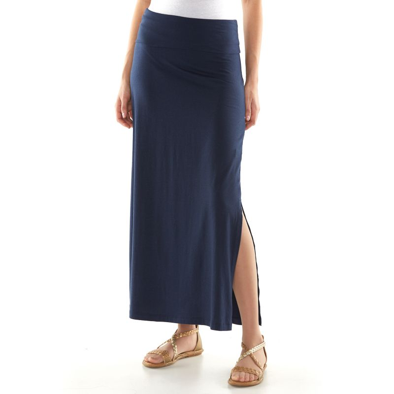 sonoma style solid maxi skirt s size