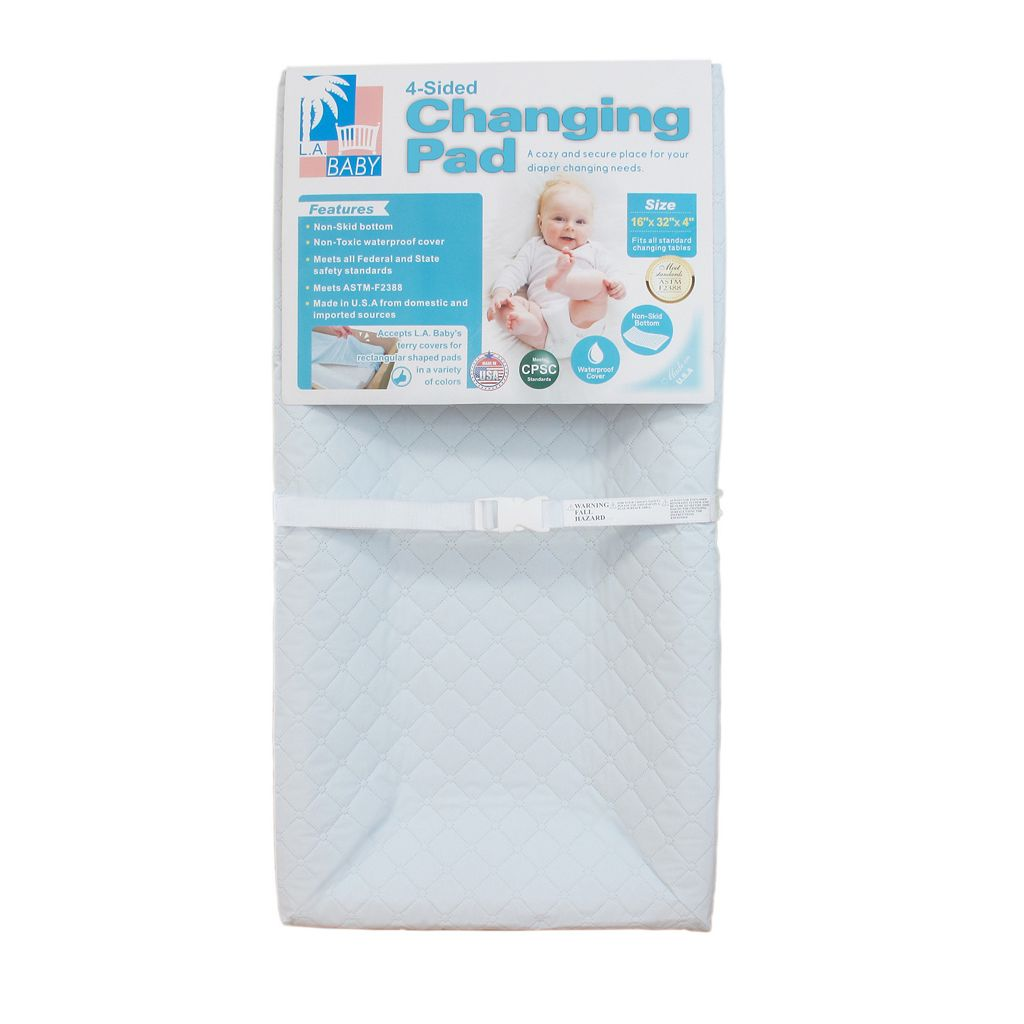 LA Baby 30-in. Four-Sided Changing Pad & Cover Set