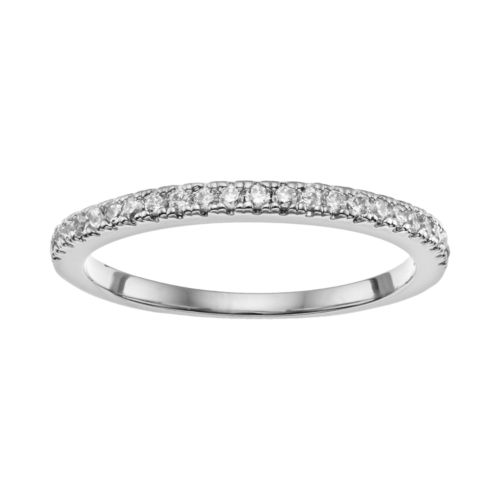 Cubic Zirconia Silver-Plated Ring
