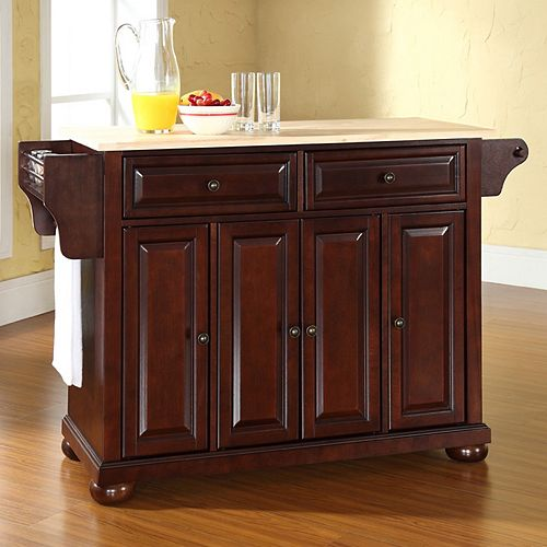 Crosley Furniture Alexandria Wood Top Kitchen Island In: Crosley Furniture Alexandria Kitchen Island