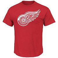 Men's Majestic Detroit Red Wings Lightweight Tek Patch Tee