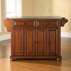 Crosley Furniture Alexandria Steel-Top Kitchen Island