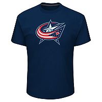 Men's Majestic Columbus Blue Jackets Lightweight Tek Patch Tee