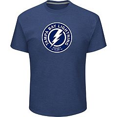 Men's Majestic Tampa Bay Lightning Lightweight Tek Patch Tee