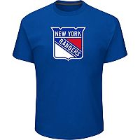 Men's Majestic New York Rangers Lightweight Tek Patch Tee