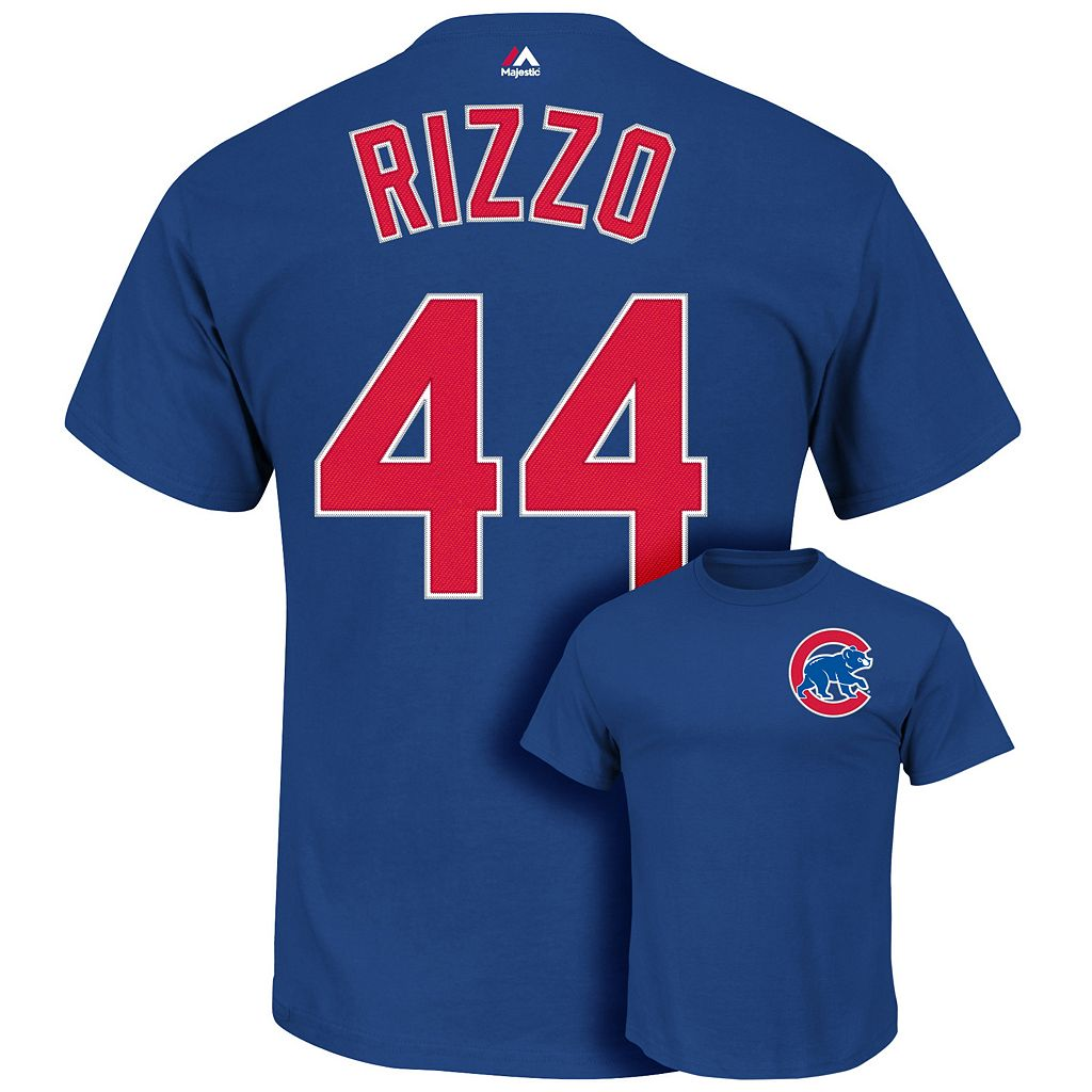 Majestic Chicago Cubs Anthony Rizzo Player Name and Number Tee - Men
