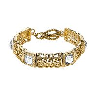 1928 Square Filigree Stretch Bracelet