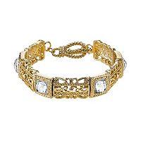 1928 Square Filigree Stretch Bracelet
