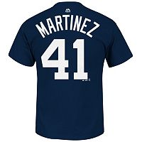 Men's Majestic Detroit Tigers Victor Martinez Player Name and Number Tee
