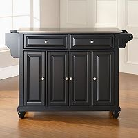 Crosley Furniture Cambridge Wide Stainless Steel Top Kitchen Island