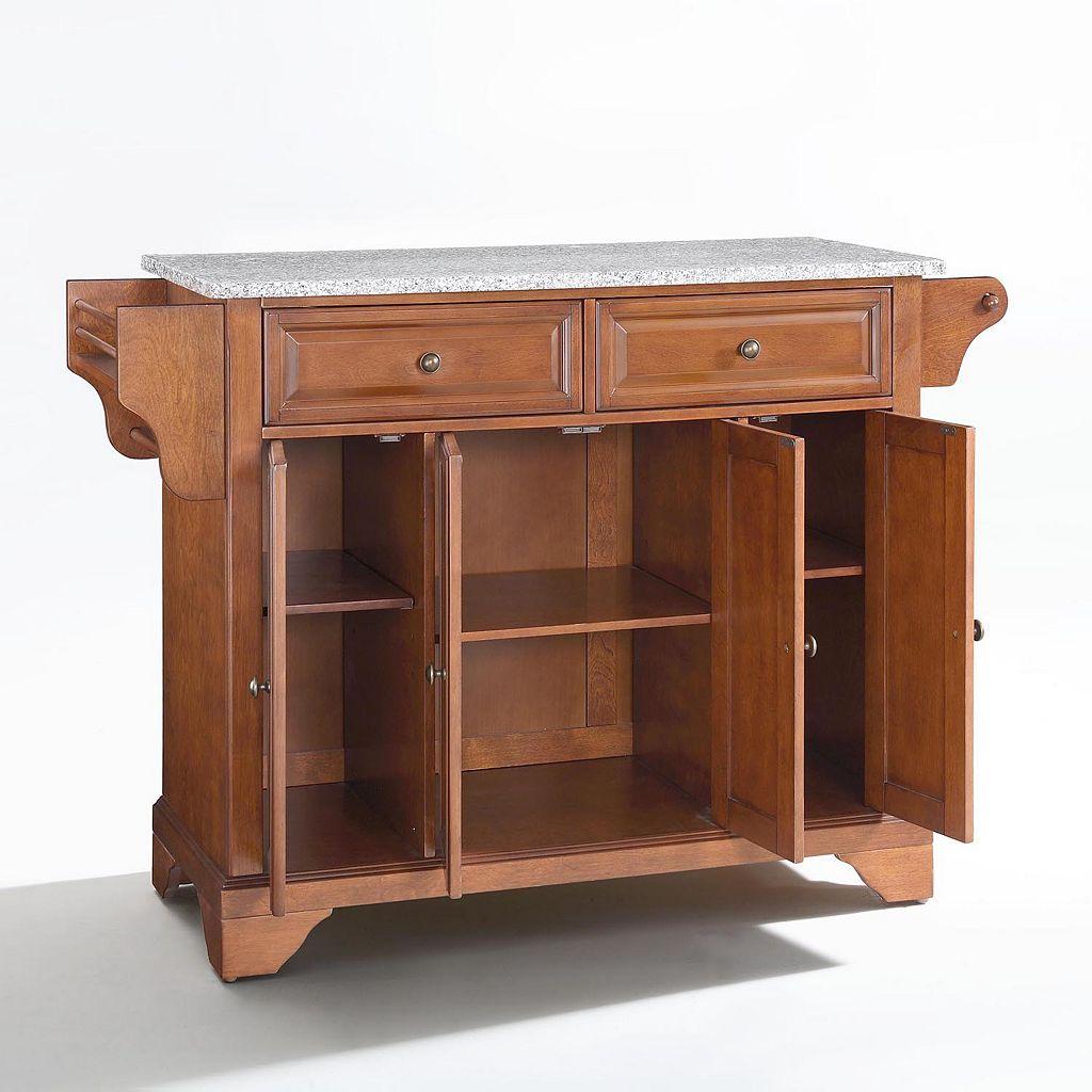 Crosley Furniture Lafayette Granite Kitchen Island
