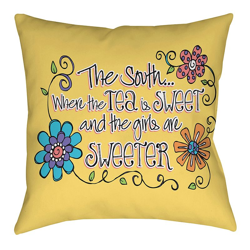 Kohls Yellow Throw Pillow : Yellow 18x18 Pillow Kohl s