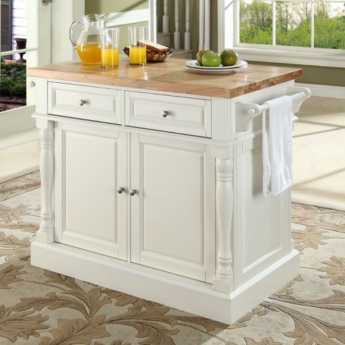 crosley butcher block top kitchen island crosley furniture butcher block top kitchen island 26582