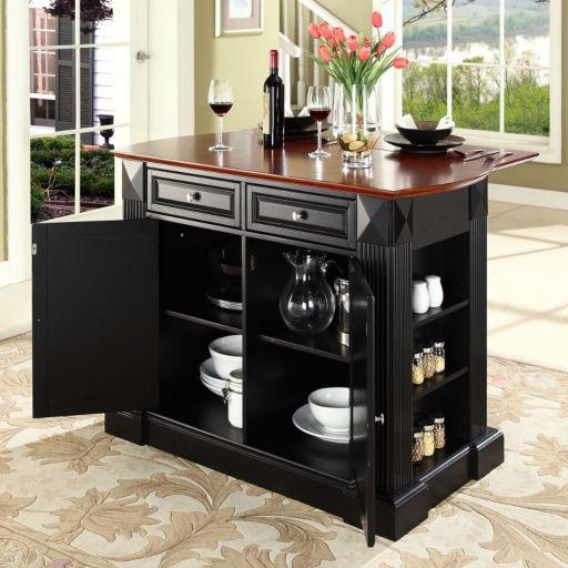 Crosley Furniture Drop-Leaf Kitchen Island