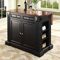crosley furniture drop leaf kitchen island - Kitchen Carts