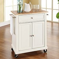 Crosley Furniture Wood Top Kitchen Island Cart