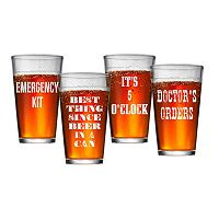 Artland 4 pc Pub Glass Set