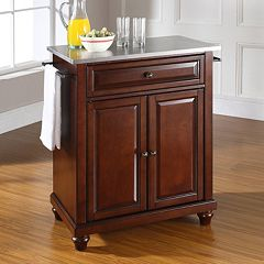 Crosley Furniture Cambridge Stainless Steel Top Kitchen Island