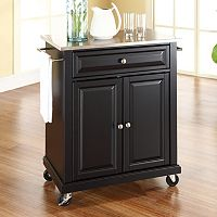 Crosley Furniture Stainless Steel Top Kitchen Island Cart