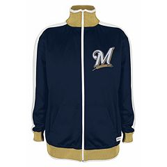 Men's Stitches Milwaukee Brewers Track Jacket