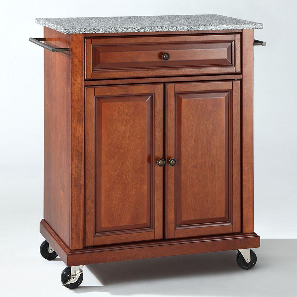 Crosley Furniture Granite Top Kitchen Island Cart