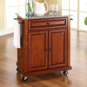 Crosley Furniture Granite Top Kitchen Island Cart