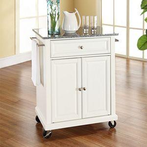 Crosley Furniture Black Granite Top Kitchen Island Cart