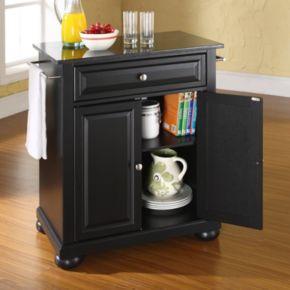 Crosley Furniture Alexandria Black Granite Top Kitchen Island