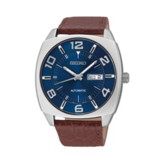 Seiko Men's Recraft Leather Automatic Watch - SNKN37