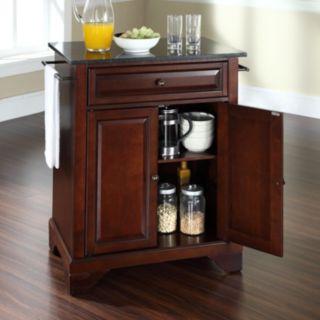 Crosley Furniture LaFayette Black Granite Top Kitchen Island