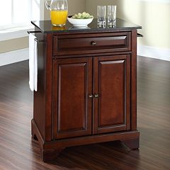 Crosley Furniture LaFayette Black Granite Top Kitchen Island