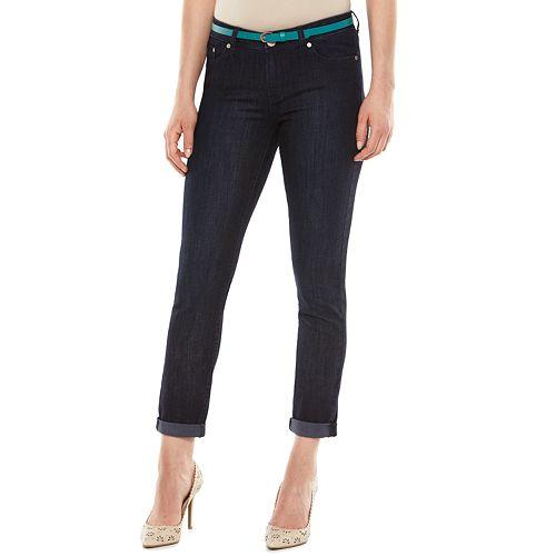 LC Lauren Conrad Cuffed Skinny Jeans - Women's