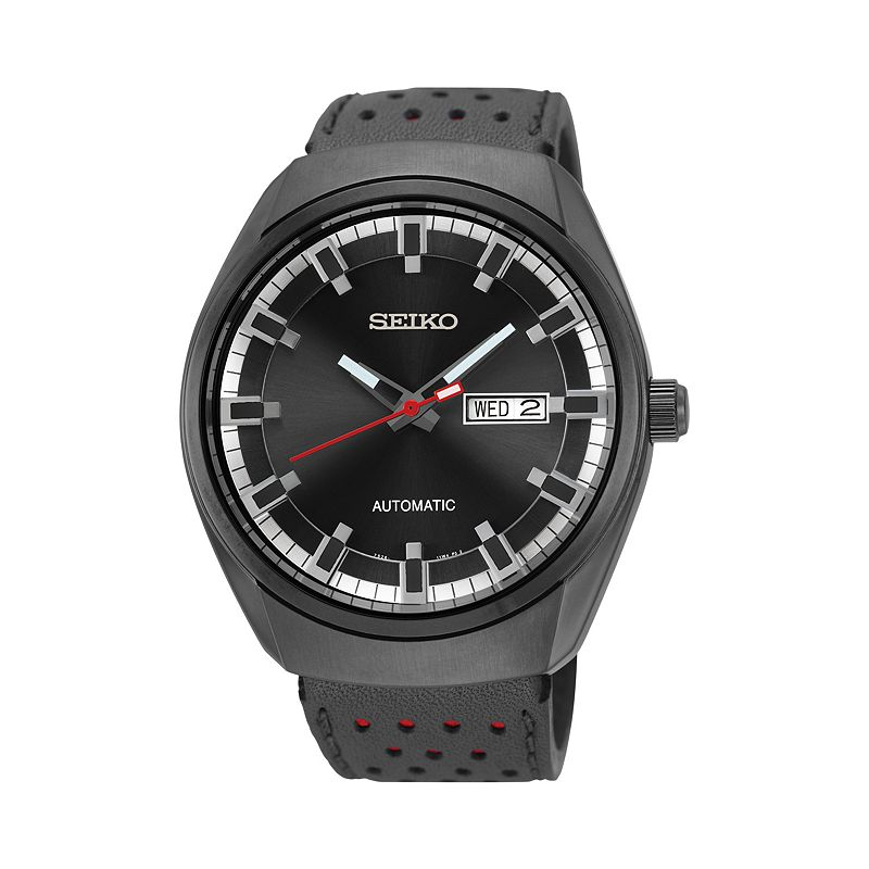 Seiko Men's Recraft Leather Automatic Watch - SNKN45