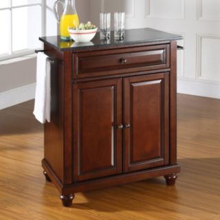 Crosley Furniture Cambridge Black Granite Top Kitchen Island